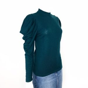Vince Camuto | Long Sleeve Green Dramatic Shoulder